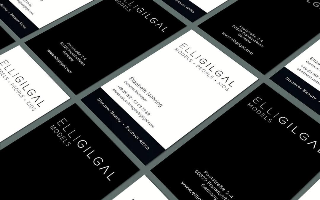 Visitenkarten- und Logo Design Modelagentur Frankfurt