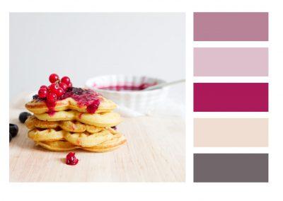 Farbkombination leere mit Rand