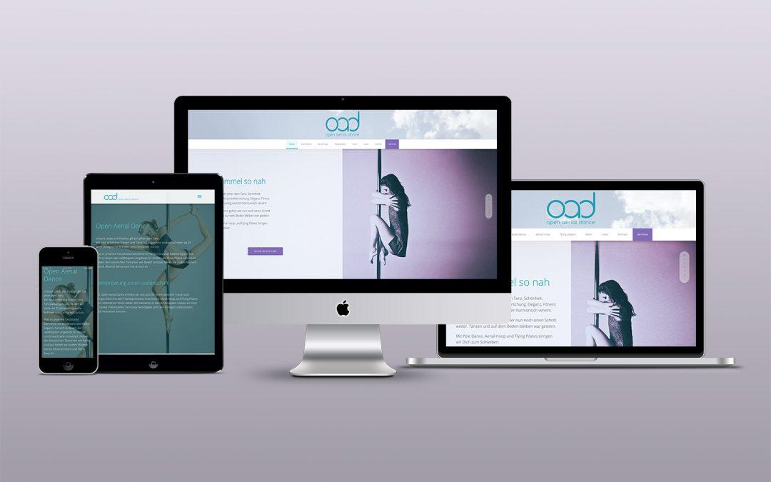 Dem Himmel so nah –  Webdesign Tanzschule Wiesbaden