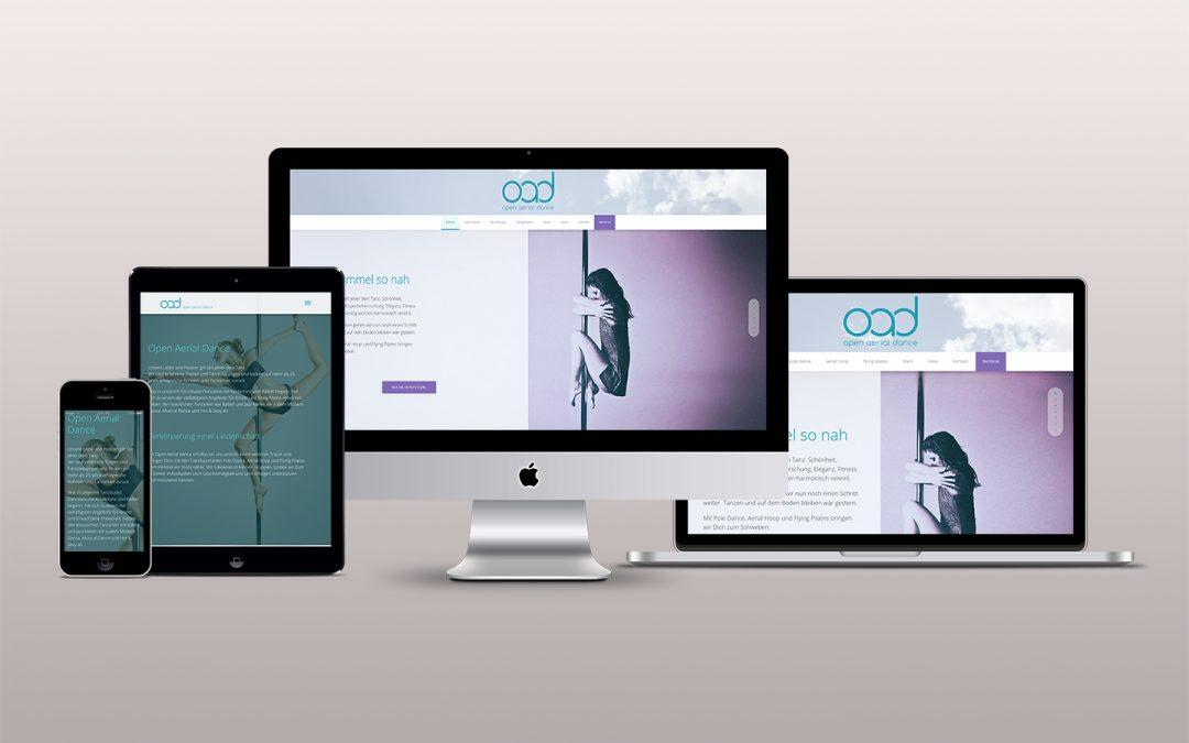 Dem Himmel so nah —  Webdesign Tanzschule Wiesbaden