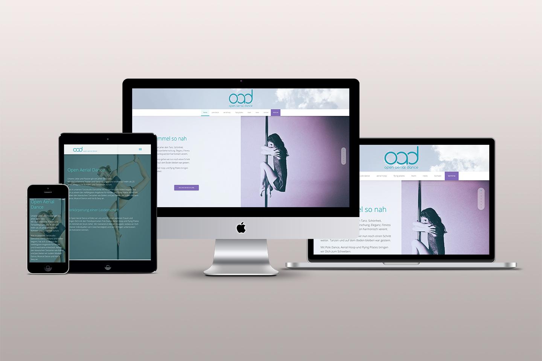 Webdesign Tanzschule Open Aerial Dance