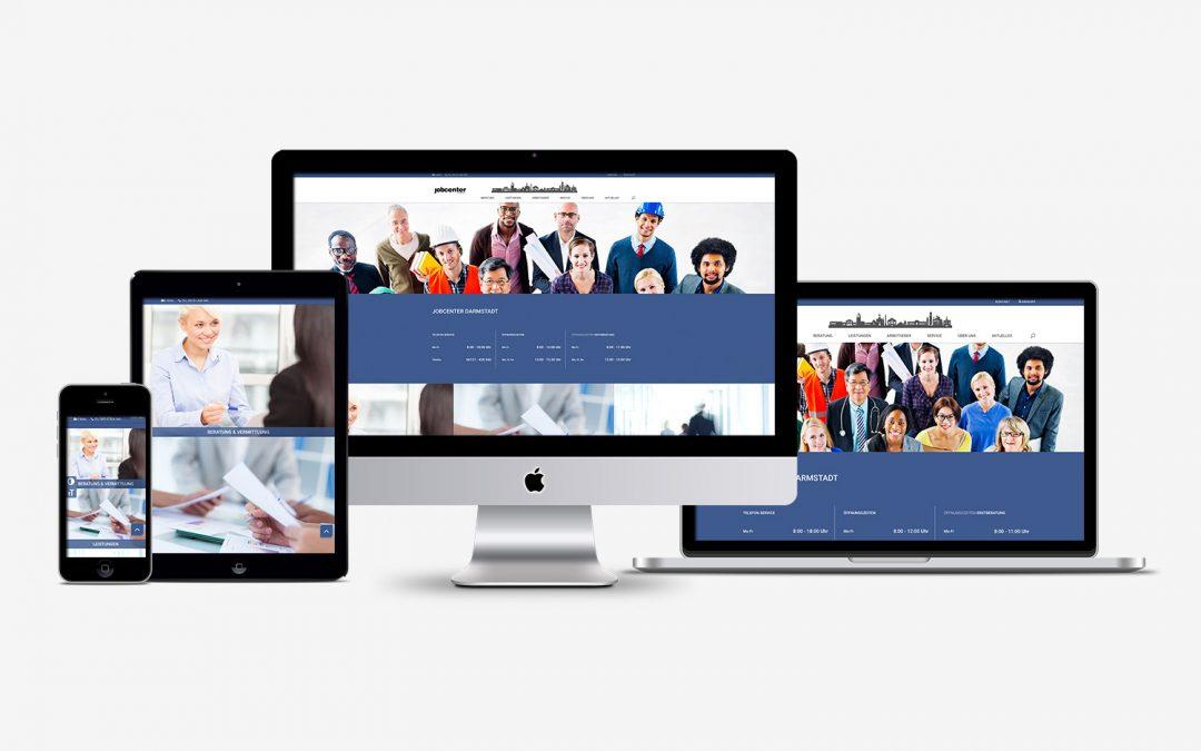 Webseite Jobcenter Darmstadt
