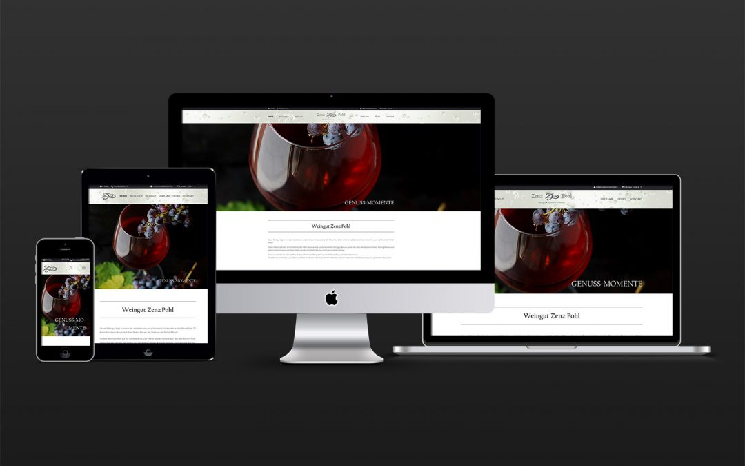 Web­shop Design — Mosel Wein­gut Zenz-Pohl