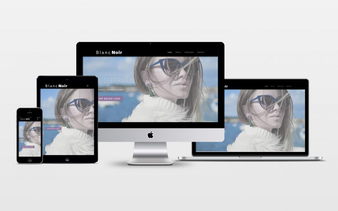 Web­sei­ten Relaunch für Mode­be­ra­tung Blan­c­Noir