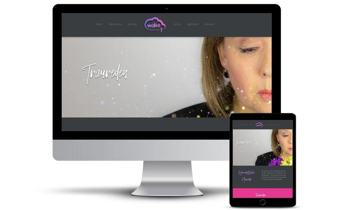 Himmlisches Webdesign für Wolke7