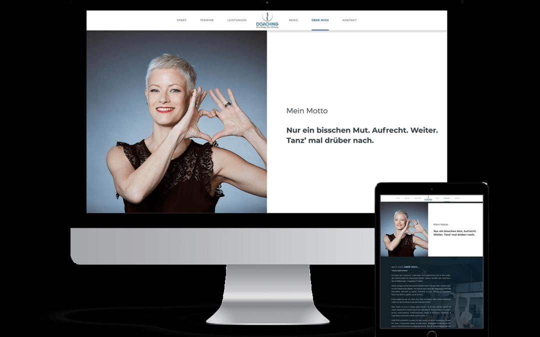 Webseite Doaching — Coaching für Frauen