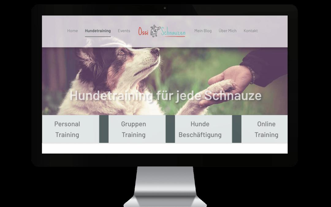 Webdesign für Hundetraining Ossischnauzen